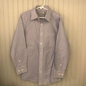 Nordstrom Shirts & Tops - Boys striped blue/white button down shirt
